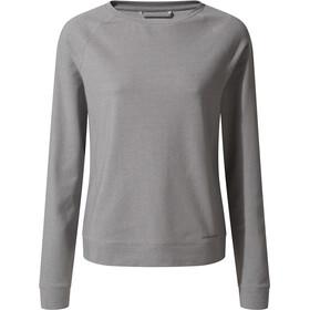 Craghoppers NosiLife Sydney Langarm Crew Shirt Damen soft grey marl